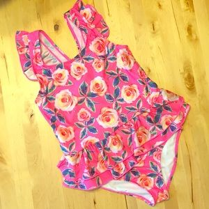 BETSY JOHNSON GIRL 🦋 SWIMSUIT 🦋 PINK FLORAL